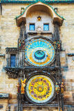 The Prague Astronomical Clock at Old City Hall Stock Photo
