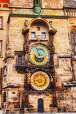 The Prague Astronomical Clock Stock Photo