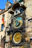 Prague Astronomical clock , old square stock photography