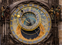 Prague astronomical clock at the Old Town City.Czech Republic. Stock Photos