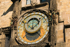 Prague astronomical clock at the Old Town City Hall Royalty Free Stock Photography