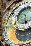 Prague astronomical clock at the Old Town cropped Royalty Free Stock Photography
