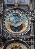 Prague, astronomical clock on Old Town Hall. Astronomical clock in Prague at the Old Town Hall Stock Images