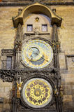The Prague Astronomical Clock. On the Old Town Hall at Night Royalty Free Stock Photo