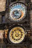 Prague Medieval Astronomical Clock Stock Photography