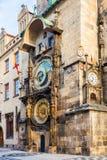 Prague astronomical clock in Old Town Square. Prague astronomical clock in the building of the Old Town Hall. Prague, Czech Republic Stock Photos