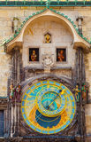 Prague astronomical clock in Old Town Square. Prague astronomical clock in the building of the Old Town Hall. Prague, Czech Republic Stock Image