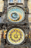 Prague astronomical clock in old town square Royalty Free Stock Photo