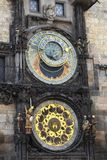 Prague astronomical clock. On Oldtown square Royalty Free Stock Photo