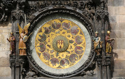 Prague astronomical clock or orloj Royalty Free Stock Images