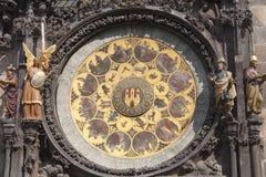 Prague astronomical clock Orloj - calendar on Old Town Hall, Prague, Czech Republic Stock Photos