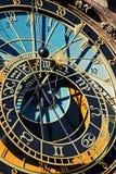 The Prague Astronomical Clock or Prague Orloj. Detail of the Prague Astronomical Clock , Orloj, in the Old Town of Prague Royalty Free Stock Photo