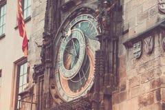 Prague astronomical clock Orloj. Detail of the Prague astronomical clock Orloj in the old town in 2015, May before renovation Royalty Free Stock Photos