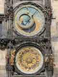 Prague astronomical clock or orloj Stock Photos