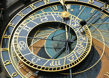 Prague astronomical clock or orloj Stock Photos