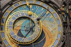Prague astronomical clock or orloj royalty free stock images