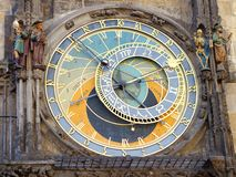 Prague Astronomical Clock (Orloj) Stock Photo