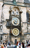 Prague Astronomical Clock or Orloj at the Old Town Hall in Pragu Stock Photography