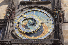 Prague astronomical clock Orloj on Old Town Hall, Prague, Czech Republic Stock Photos