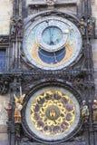 Prague astronomical clock Orloj on Old Town Hall, Prague, Czech Republic Royalty Free Stock Images