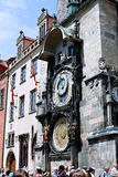 Prague Astronomical Clock or Orloj at the Old Town Hall in Prague Royalty Free Stock Images