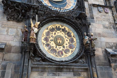 Prague Astronomical Clock (Orloj) in the Old Town of Prague.  Stock Images