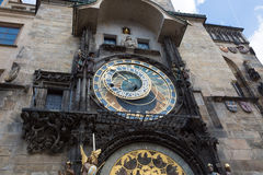 Prague Astronomical Clock (Orloj) in the Old Town of Prague.  Royalty Free Stock Images