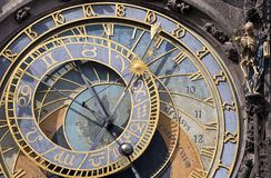 Prague Astronomical Clock (Orloj) in the Old Town of Prague, Czech Republic. Stock Photography