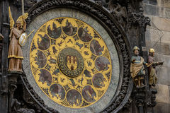 Prague Astronomical Clock Orloj in the Old Town of Prague Stock Images
