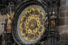 Prague Astronomical Clock Orloj in the Old Town of Prague. Czech Republic Royalty Free Stock Photos
