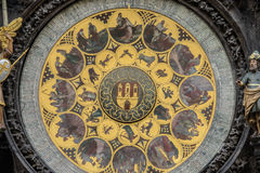 Prague Astronomical Clock Orloj in the Old Town of Prague. Czech Republic Stock Photos