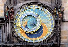 Prague Astronomical Clock Orloj in the Old Town of Prague.  Stock Images
