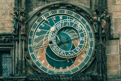 Prague Astronomical Clock Orloj in Old Town Square Stock Photos