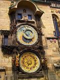 The Prague astronomical clock, or Prague orloj. The clock was first installed in 1410, making it the third-oldest astronomical clock in the world Royalty Free Stock Photos