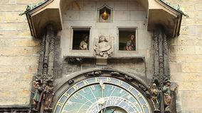 Prague astronomical clock performance, Old Town. Part 2 of 2. Stock footage stock video footage