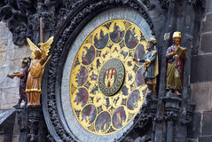 The Prague astronomical clock, or Prague orloj Royalty Free Stock Photography