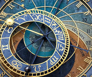 The Prague astronomical clock (Prague orloj) Stock Photography