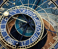 The Prague astronomical clock (Prague orloj), Czech Stock Images