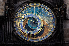 The Prague astronomical clock (Prague orloj), Czech Stock Photo