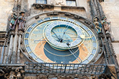 The Prague astronomical clock (Prague orloj), Czech Republic Stock Photo
