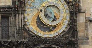 Prague Astronomical Clock, Or Prague Orloj Is A Medieval Clock Located In Prague, The Capital Of The Czech Republic. The Prague Astronomical Clock, Or Prague stock video