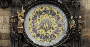Prague Astronomical Clock, Or Prague Orloj Is A Medieval Clock Located In Prague, The Capital Of The Czech Republic. The Prague Astronomical Clock, Or Prague stock video footage