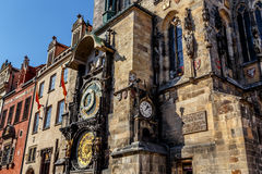 The Prague astronomical clock, or Prague orloj Stock Photography