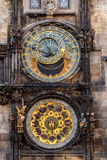 The Prague astronomical clock, or Prague orloj Royalty Free Stock Image