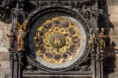 The Prague astronomical clock, or Prague orloj Stock Image