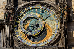 The Prague astronomical clock, or Prague orloj Royalty Free Stock Images