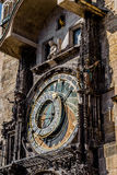 The Prague astronomical clock, or Prague orloj Stock Photos