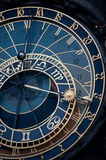The Prague Astronomical Clock (Prague Orloj), medieval Stock Image