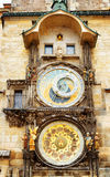 The Prague astronomical clock (Prague orloj) at the Old Town Squ Stock Photography