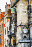 The Prague astronomical clock (Prague orloj) at the Old Town Squ Stock Image